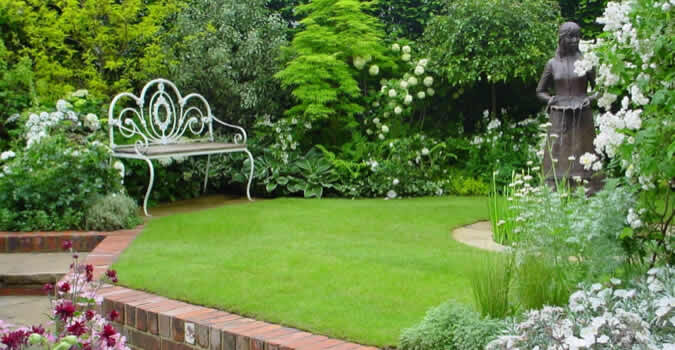 Backyard Landscaping Ideas. Professionally Performed Lawn Maintenance In Mountain  View ...